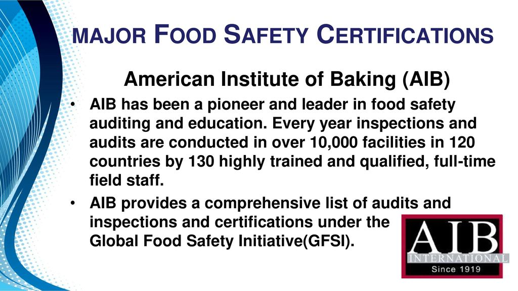 Food Safety Certifications: - ppt download