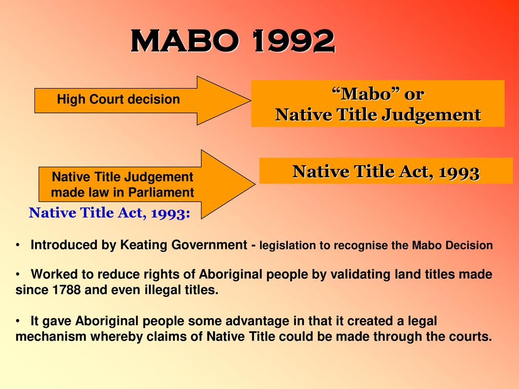 the mabo judgement