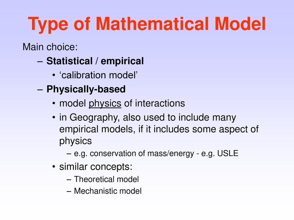 Mathematical Modelling in Geography - ppt download
