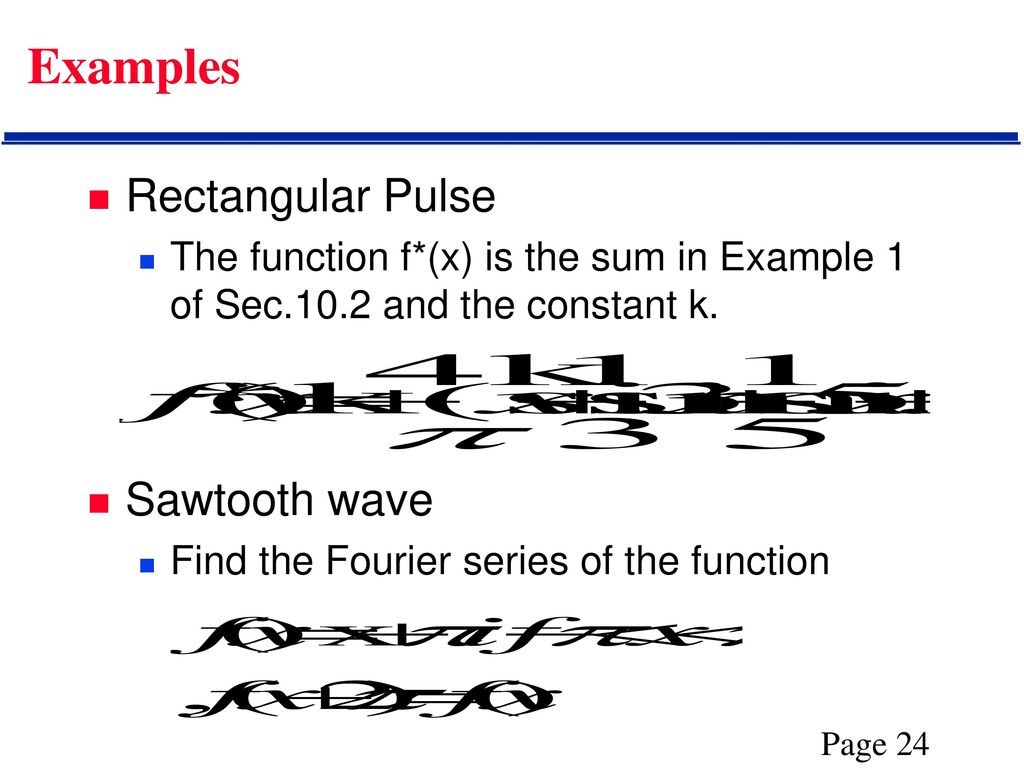 Fourier Series  - ppt download