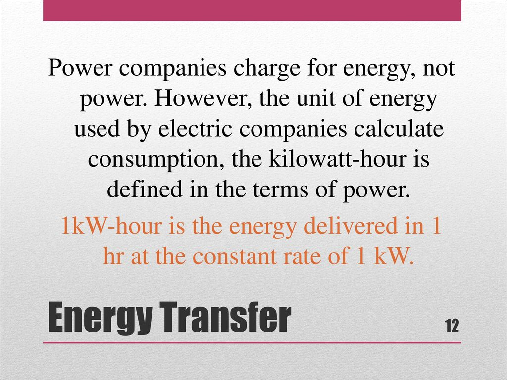 Companies Charge For Energy Not