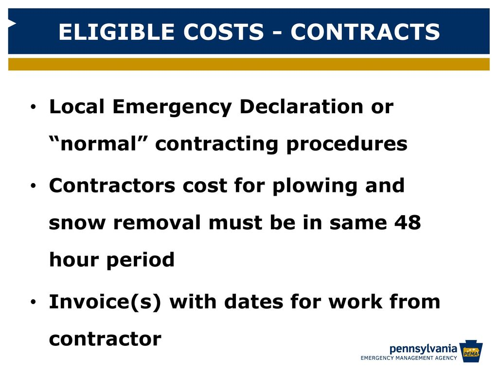 21 eligible costs contracts