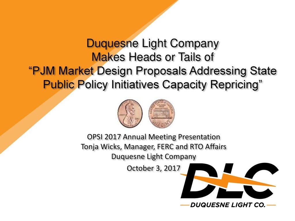 1 Duquesne Light Company ...