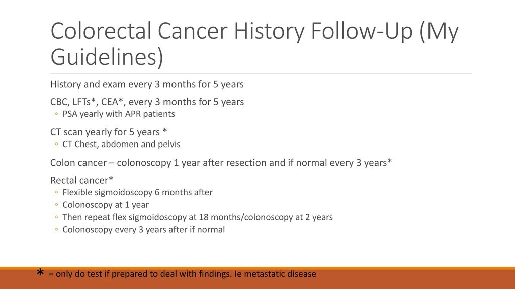 Colorectal Cancer Screening And Postoperative Follow Up Ppt Download