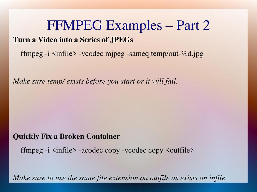 Video Editing on Linux Part 1: Background Video Resolutions - ppt