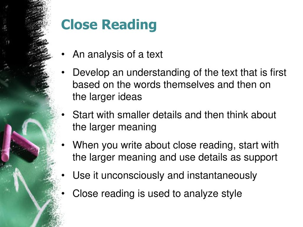Close Reading The Art And Craft Of Analysis  Ppt Download  Close