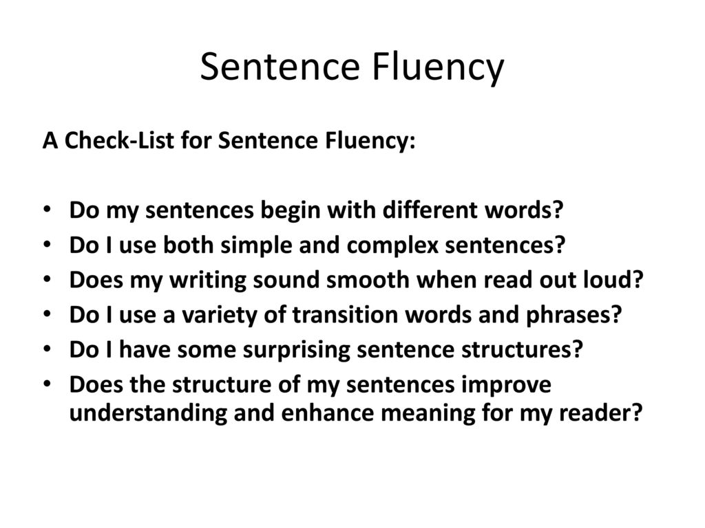 check my sentence structure