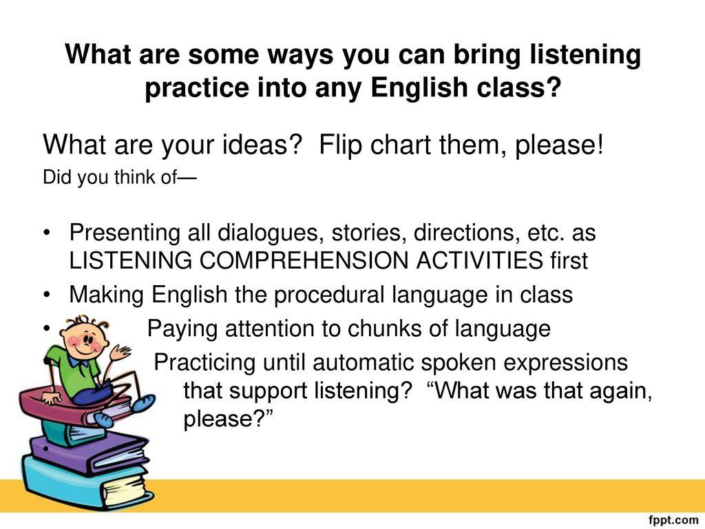 presentation ideas for english class