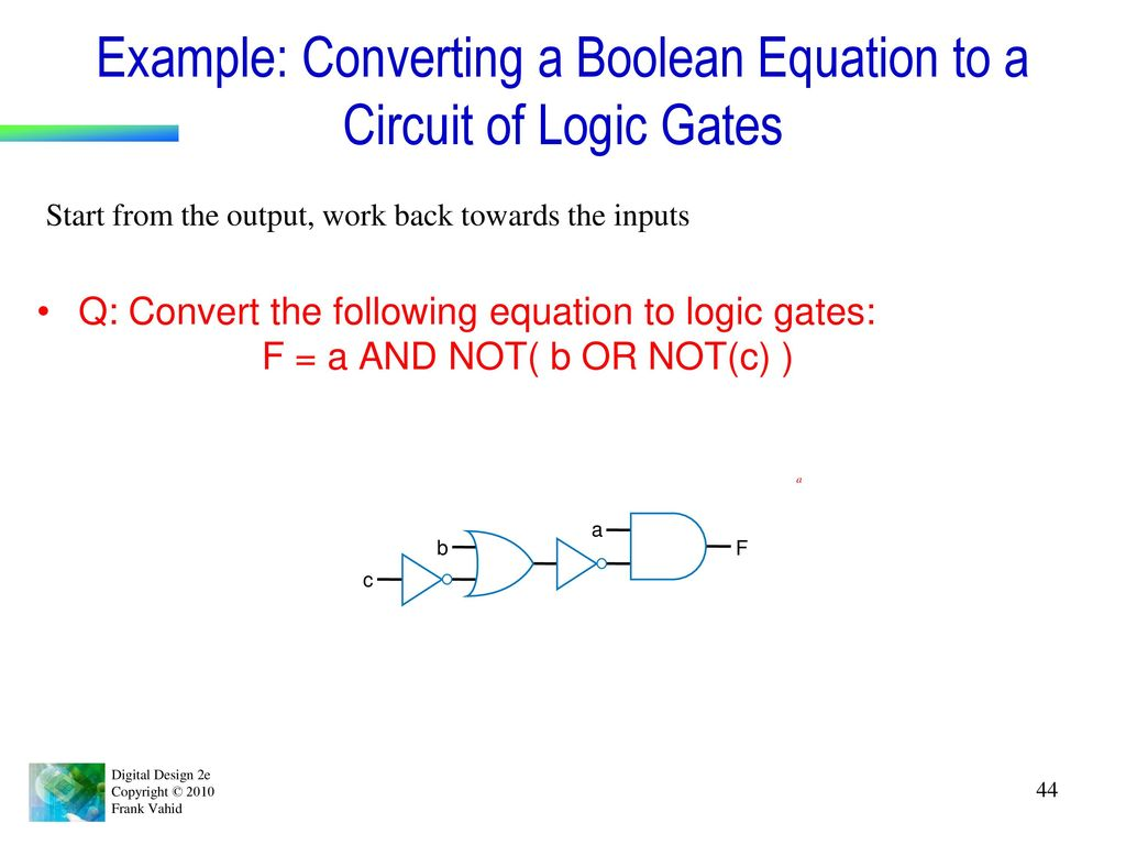 Chapter 1 Introduction Ppt Download Logic Gates Circuit 7 10 From 56 Votes 8 Example Converting A Boolean Equation To Of