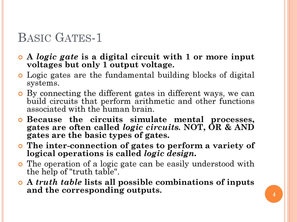 The Basic Gates Combinational Logic Circuits Ppt Download Related Keywords Suggestions Long 1 A Gate Is Digital Circuit With Or More Input