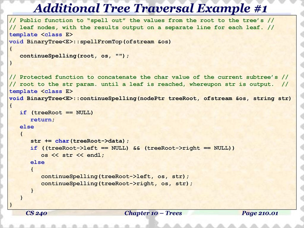 Additional Tree Traversal Example 1 Ppt Download