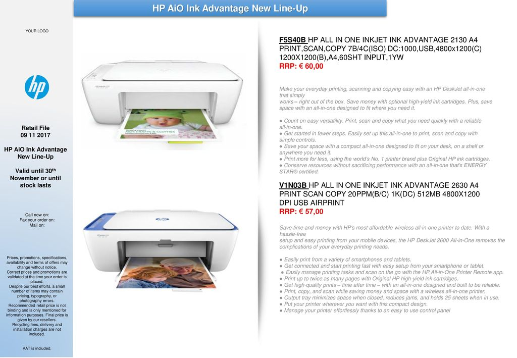 HP AiO Ink Advantage New Line-Up - ppt download