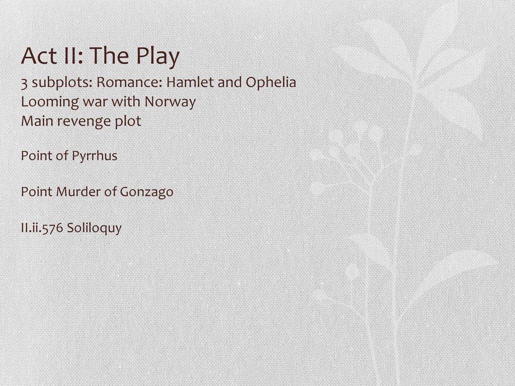ophelia monologue ideas