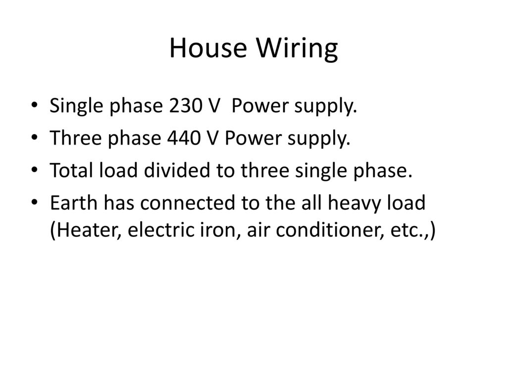Unit Velectrical Safety Wiring Introduction To Power System Ppt 230 Volt Home 4 House Single Phase V