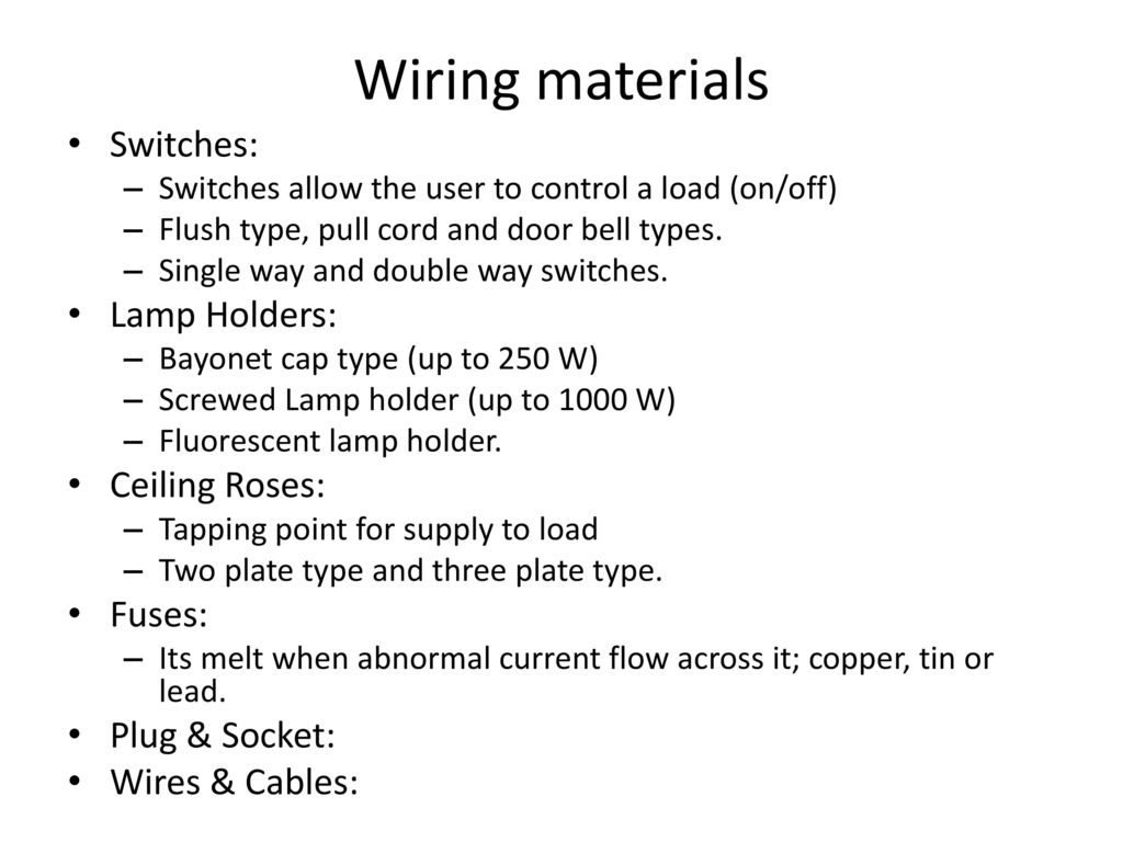 Unit Velectrical Safety Wiring Introduction To Power System Ppt Pull Cord 5 Materials