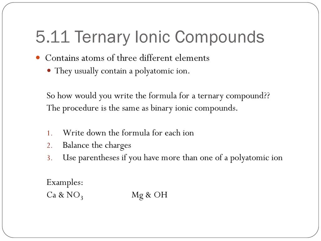 Ternary Compound Topsimages