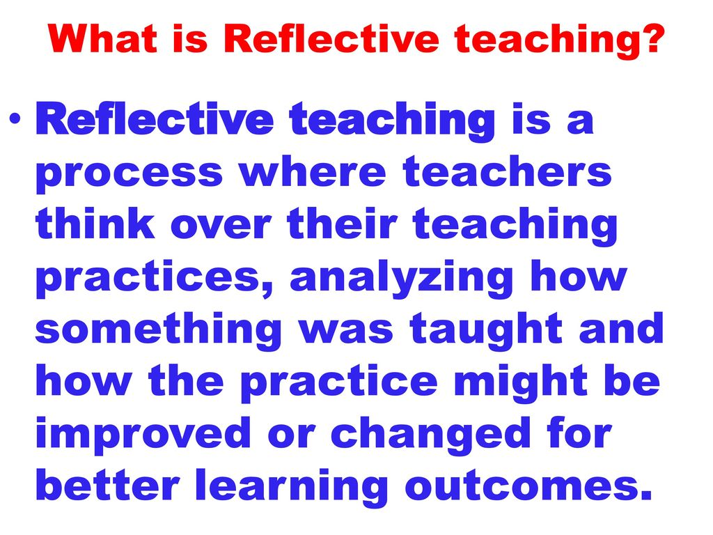 reflective learning strategies pdf