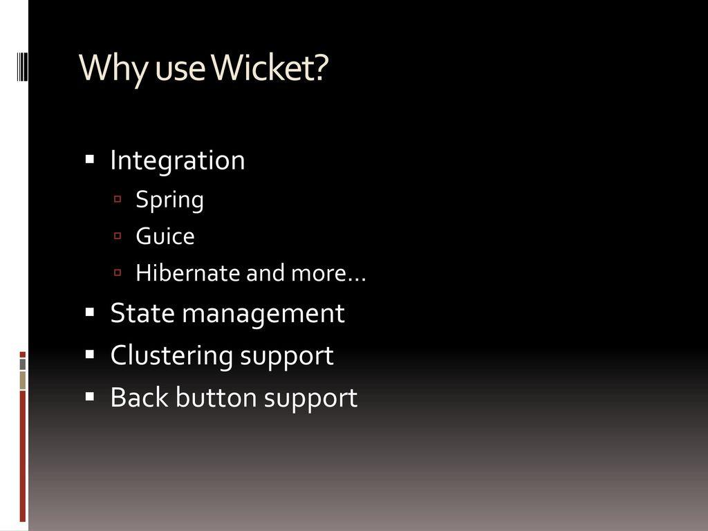 Apache Wicket Component Based Web Development Framework