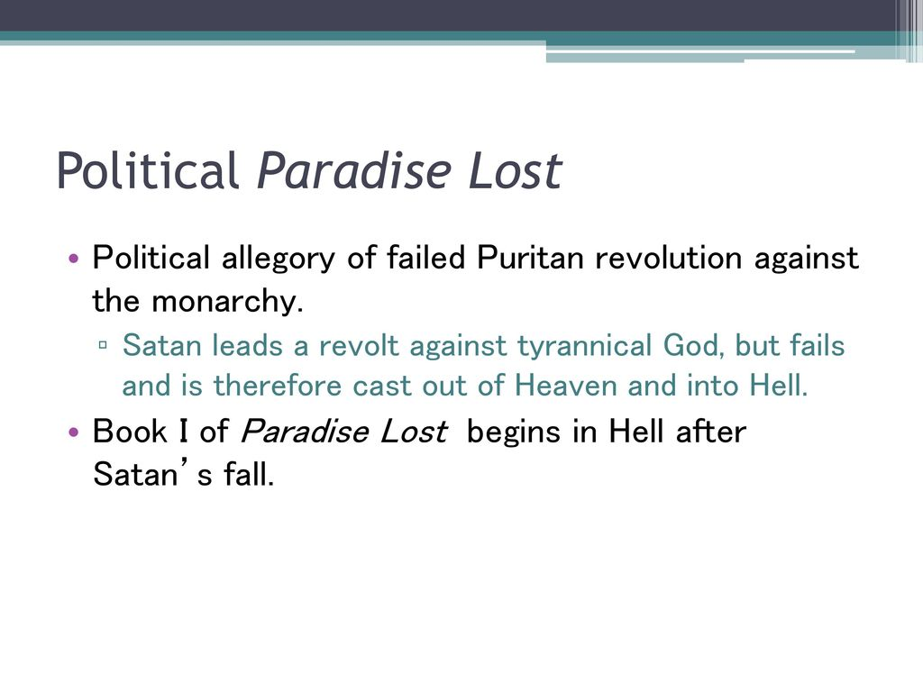 paradise lost allegory