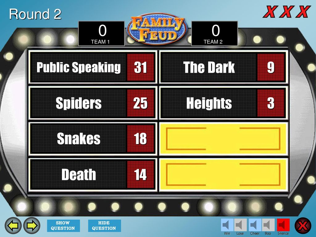 Family Feud Template Introduction Slide The Countdown Ppt Download