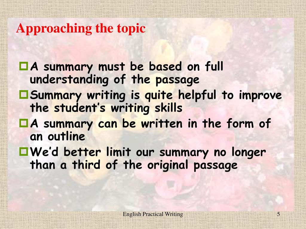 Unit 4 summaries and book reports ppt download english practical writing thecheapjerseys Images