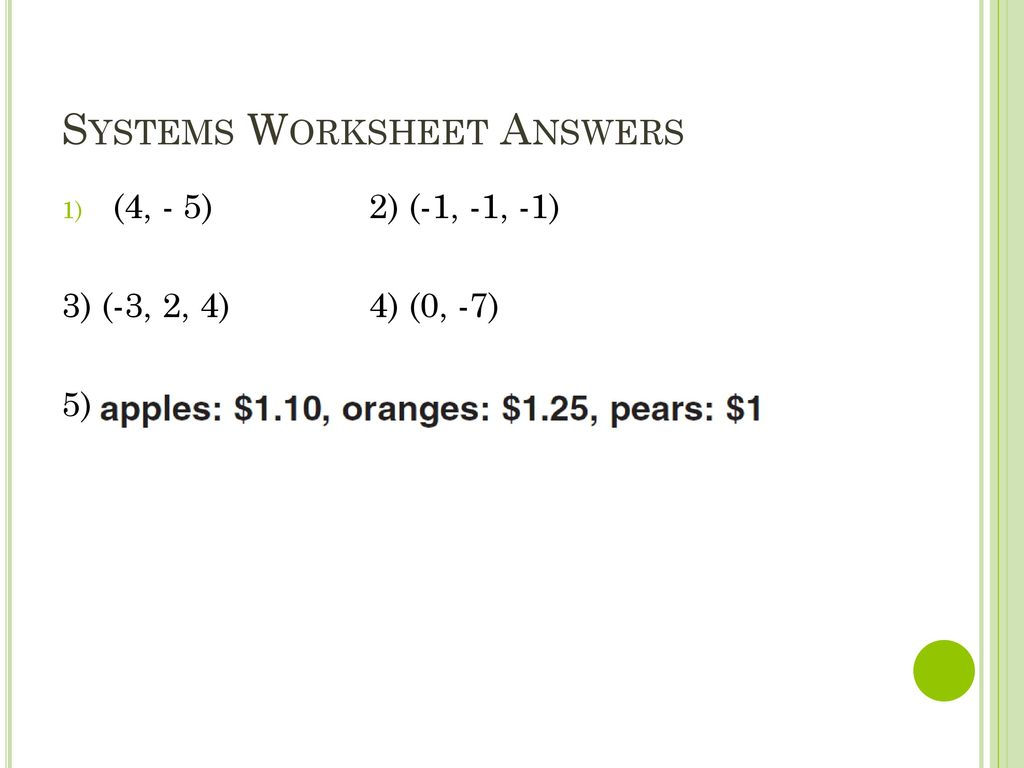 Worksheets Matrix Operations Worksheet systems worksheet answers ppt download 2 section 0 6 matrix operations