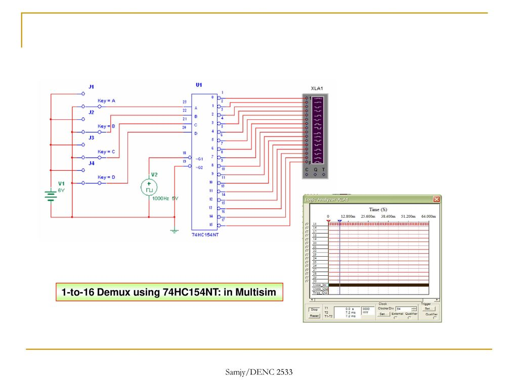 Digital Electronics With Multisim Ppt Download 1 16 Demultiplexer Logic Diagram 40 To