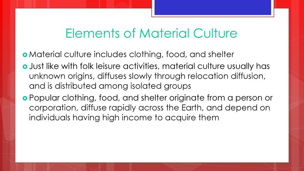 Elements Of Material Culture