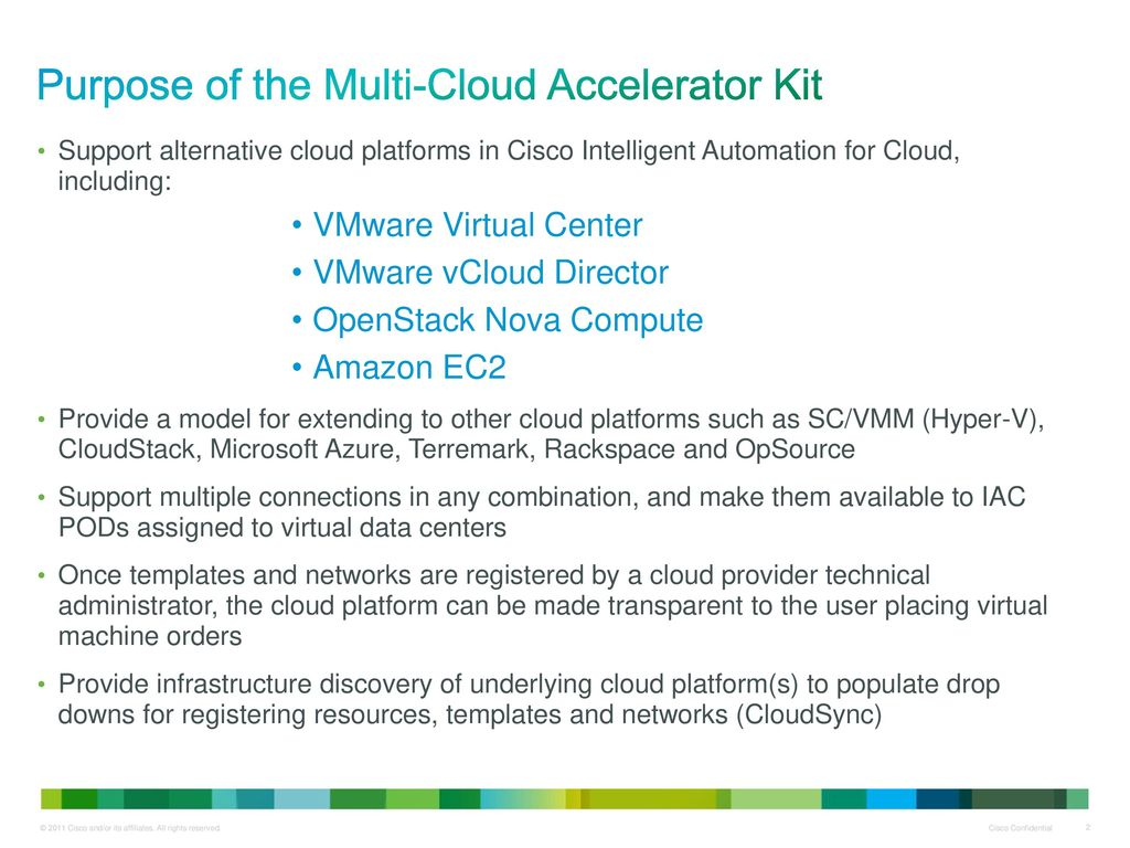 For Cisco Intelligent Automation for Cloud v ppt download