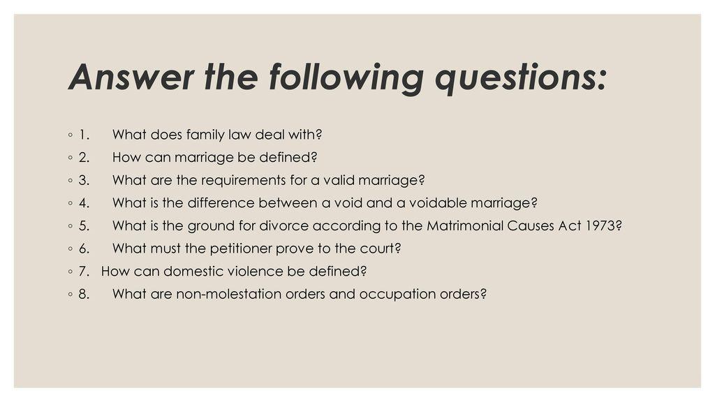 void marriage definition