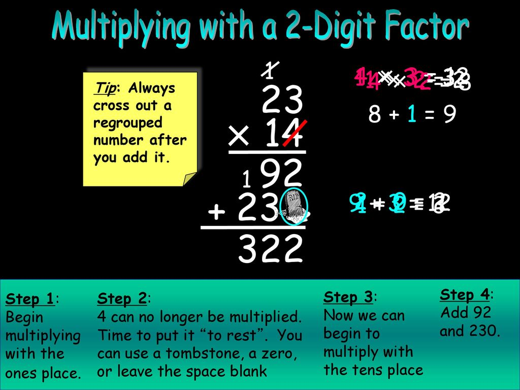 Multiplying 2-Digit Numbers I  - ppt download