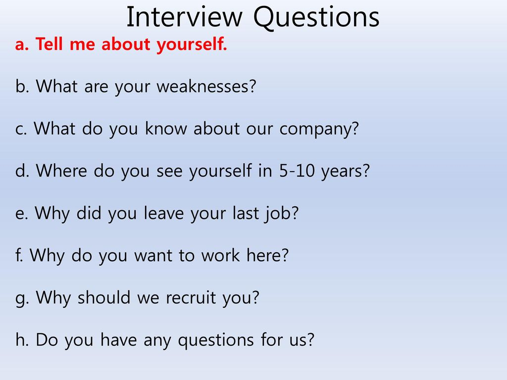 standard job interview questions - HD1024×768