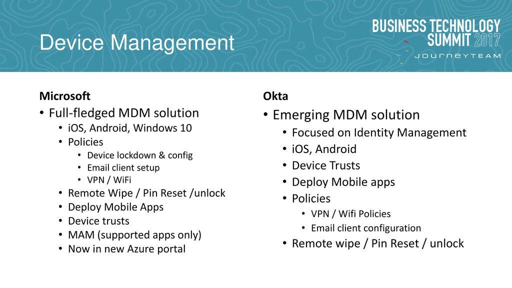 IDaaS SHOWDOWN: Microsoft EM+S vs Okta - ppt download