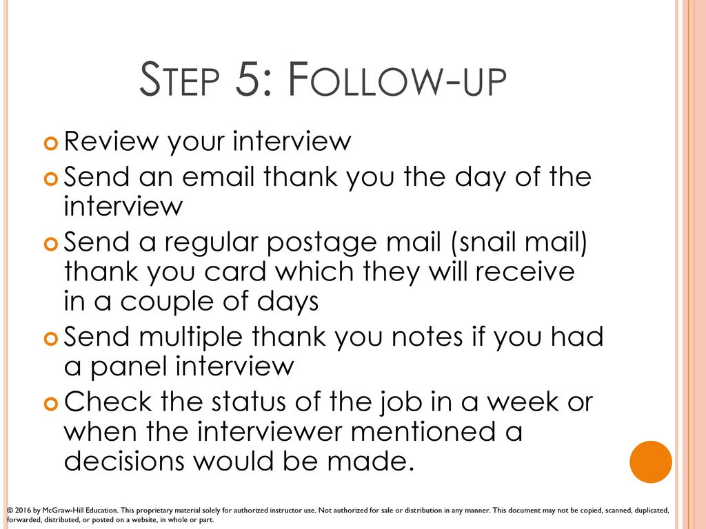 successful interviews ppt download