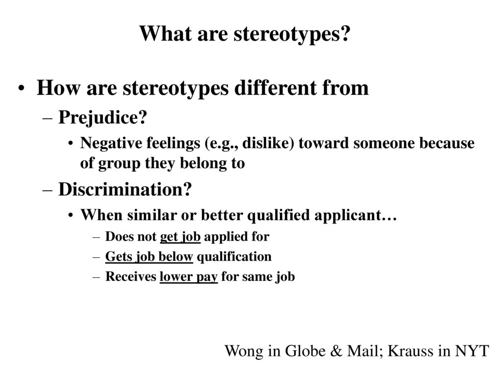 What are stereotypes 84