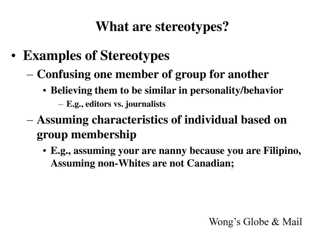 What are stereotypes 16