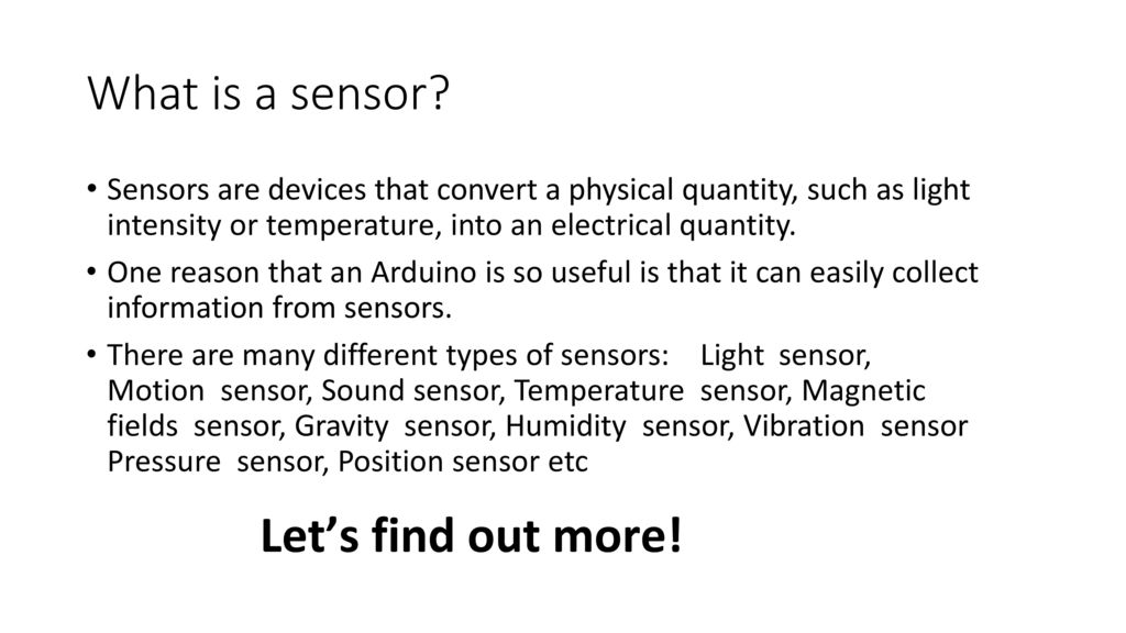 Arduino Uno and sensors - ppt download