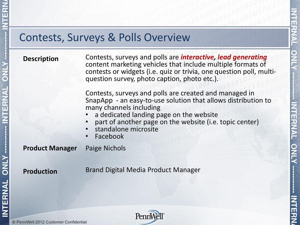 Contests, Surveys & Polls - ppt download
