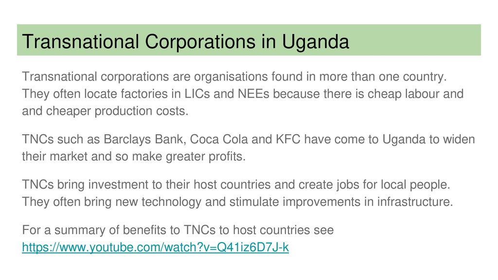 disadvantages of transnational corporations
