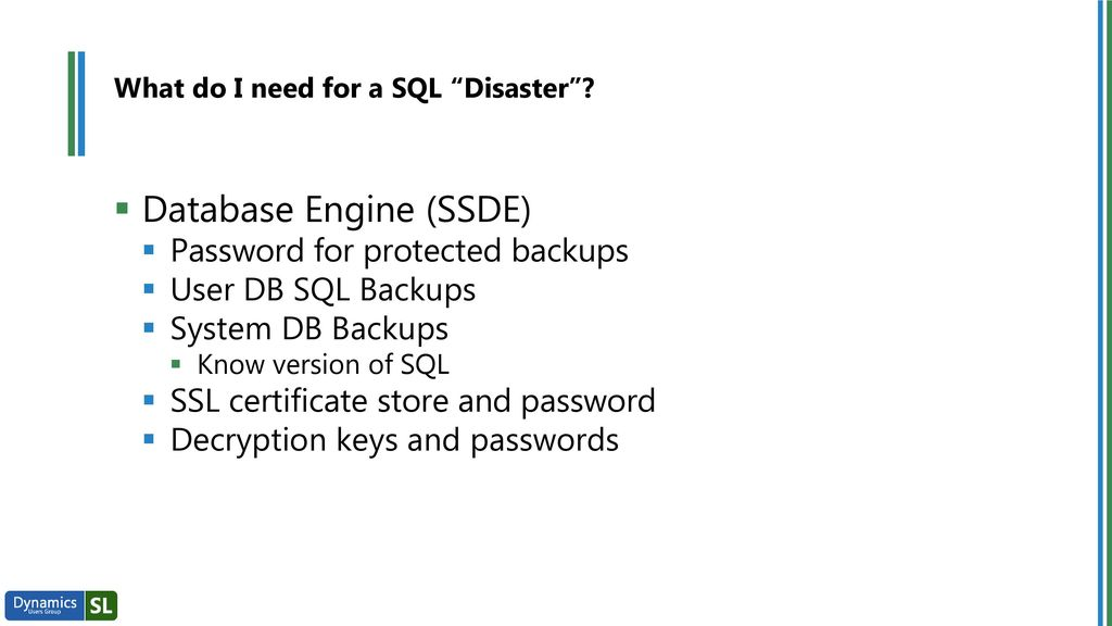 Sql Before Disaster Strikes Disaster Recovery Session Ppt Download