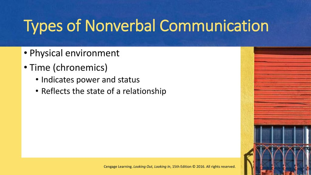 Nonverbal Communication Messages Beyond Words Ppt Download For example, in most companies the boss can interrupt progress to hold an impromptu meeting in the middle the time of high status individuals is perceived as valuable, and they control their own time. nonverbal communication messages
