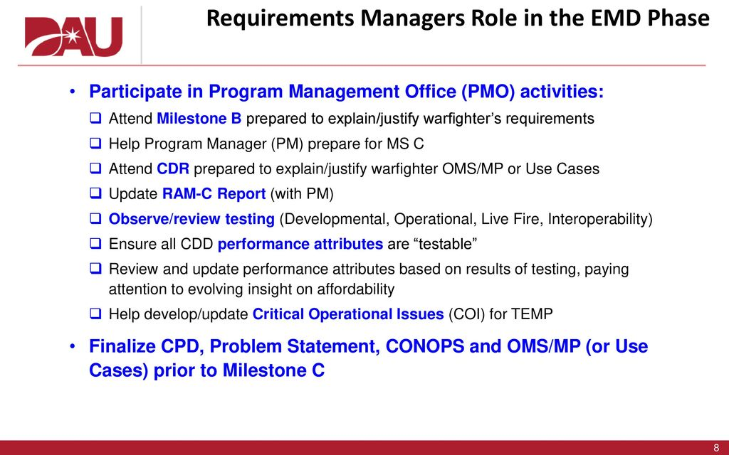 Milestone B to Full Operational Capability (FOC