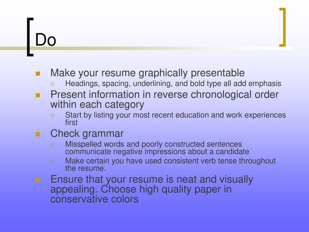 Tips to Create a Marketable Resume - ppt download
