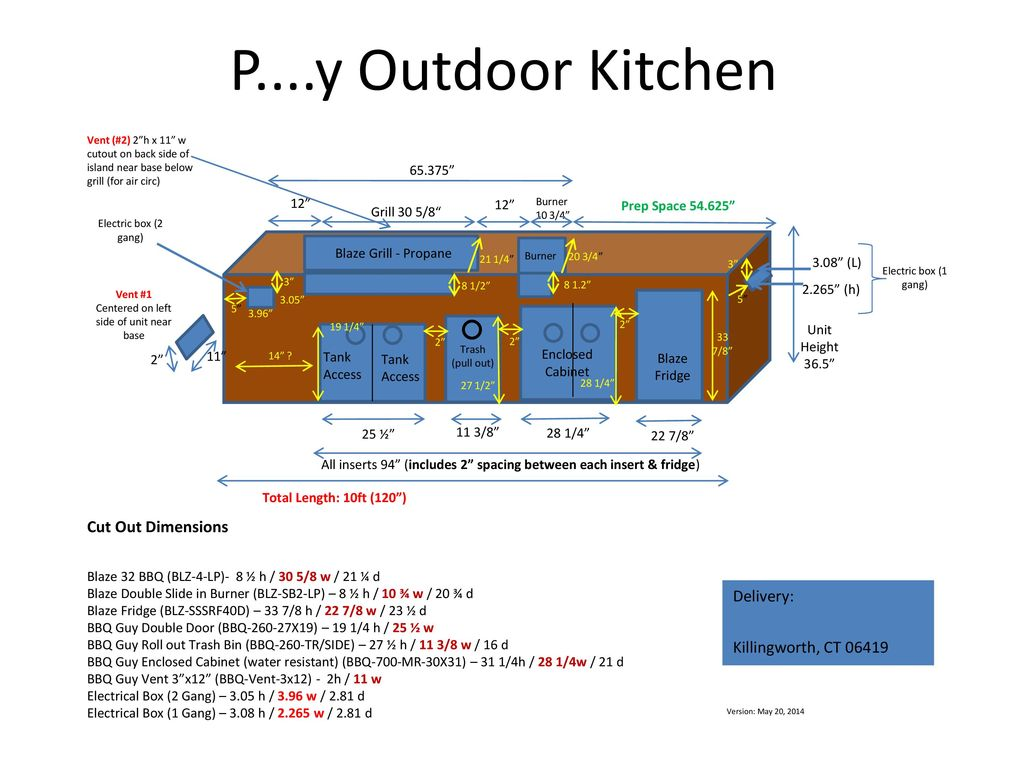 P....y Outdoor Kitchen Cut Out Dimensions Delivery: - ppt ...