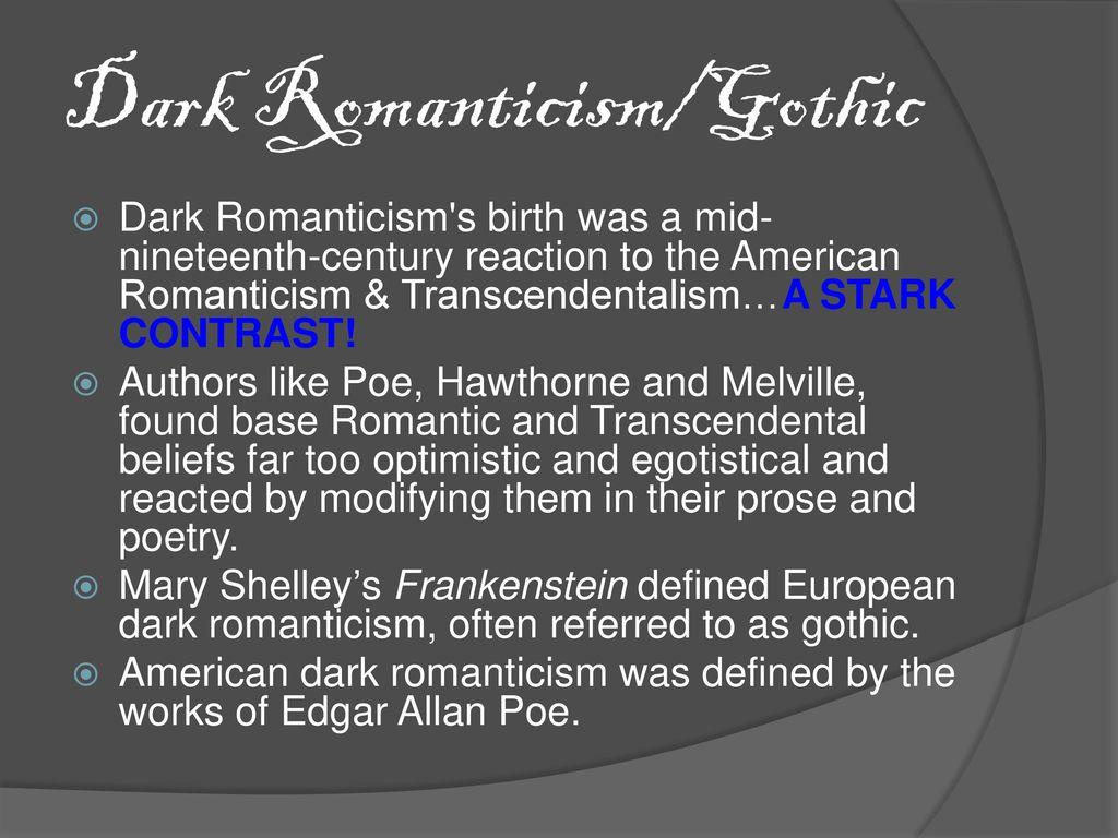 dark romanticism definition