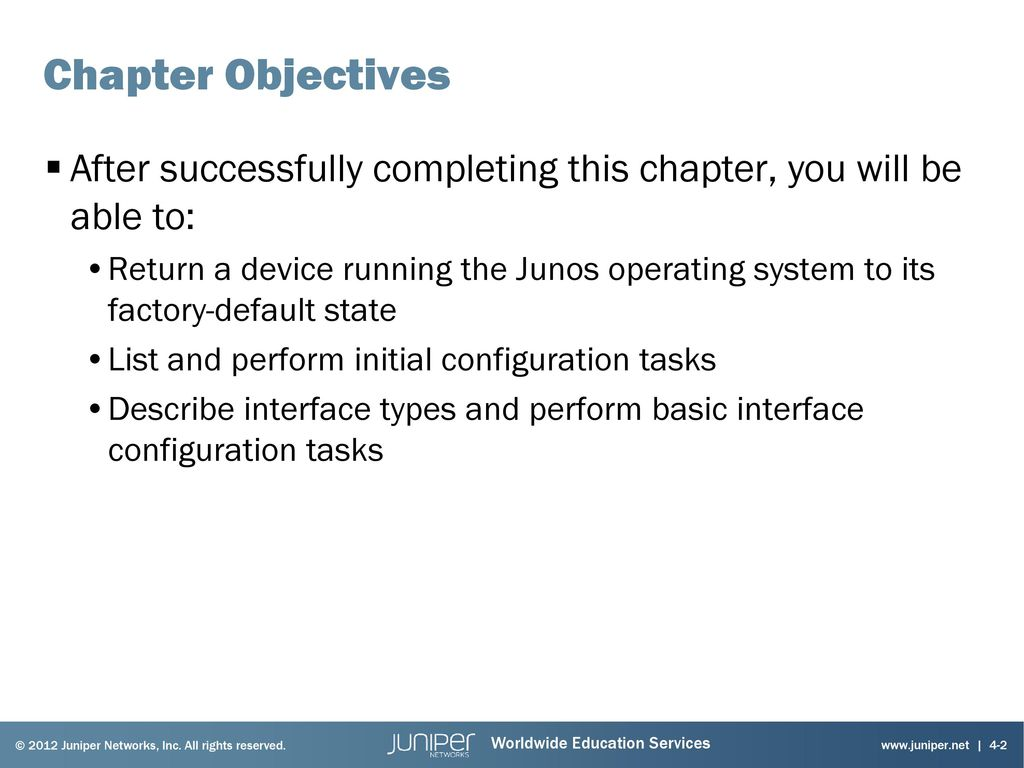 Introduction to the Junos Operating System - ppt download