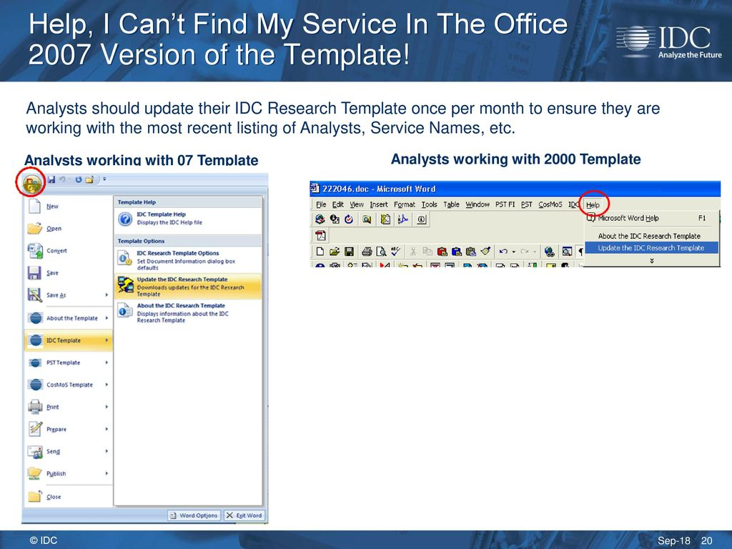 Office 2007 and the IDC Templates - ppt download
