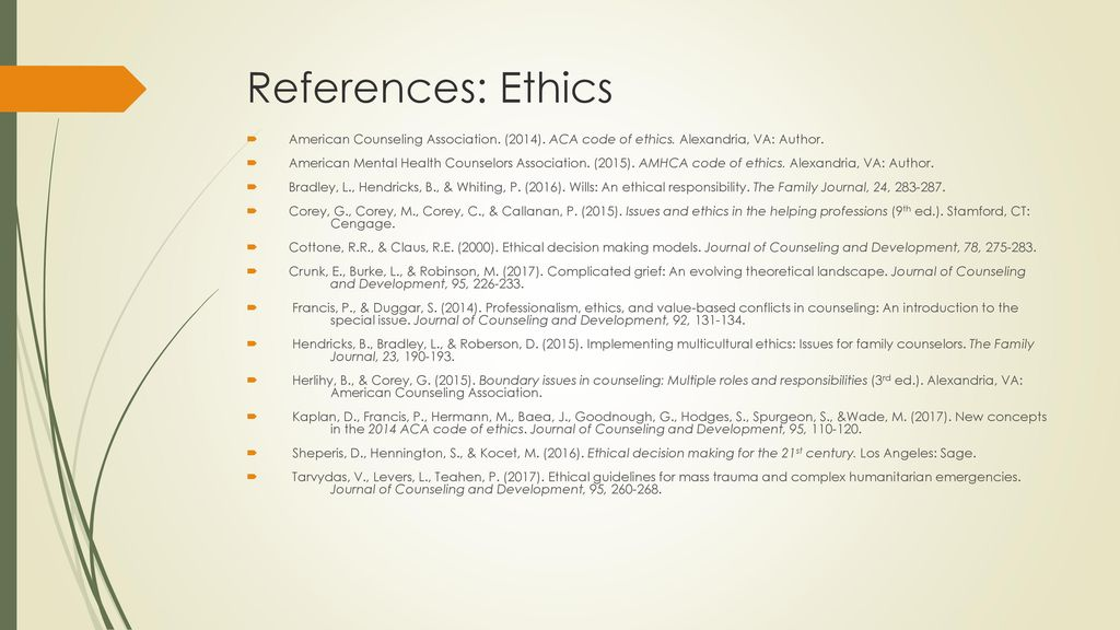 Ethics And Supervision Issues For Mental Health Counselors Ppt