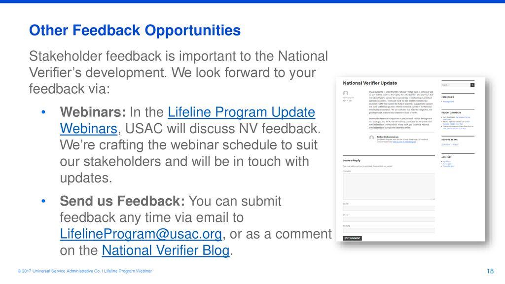 Lifeline National Verifier - ppt download