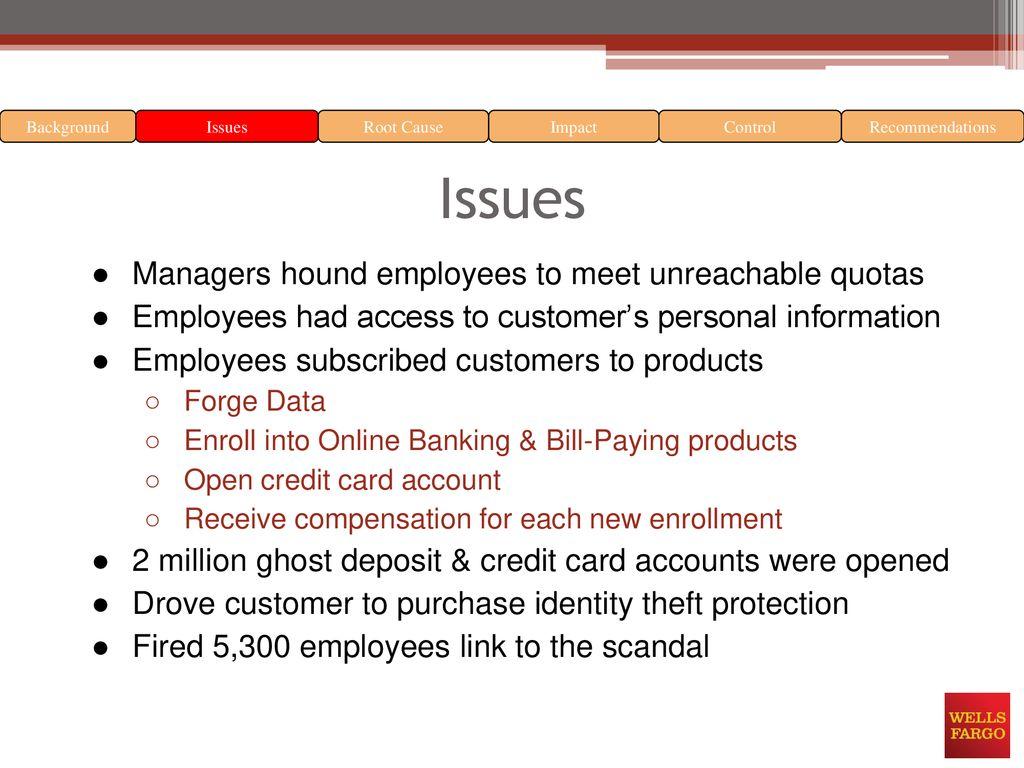 Wells Fargo Identity theft incident - ppt download